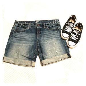 Ann Taylor LOFT Boyfriend Fit Denim Shorts 6